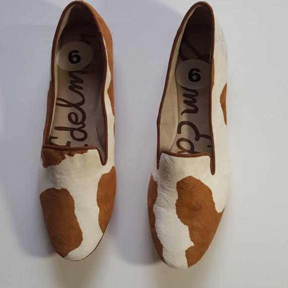 3d615c18dfec8 Sam Edelman Alvin Cow Print Calf Hair Flats. M 5a94797b05f43006ccbf01f0